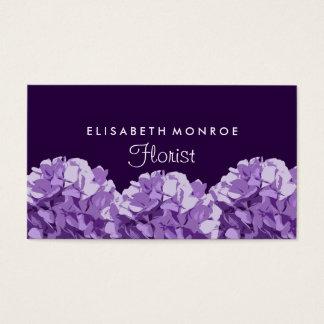 Hydrangea roxo floral, florista cartão de visitas