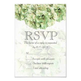 Hydrangea verde que Wedding o cartão de RSVP