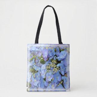 Hydrangeas azuis bolsa tote