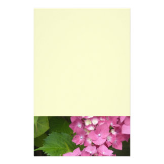 Hydrangeas cor-de-rosa papel personalizados