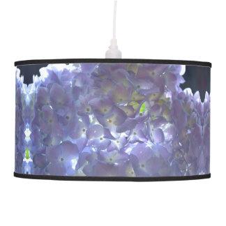 Hydrangeas da lavanda luminária de teto