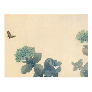 Hydrangeas por Shunso Cartão Postal