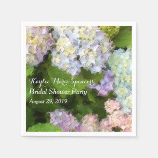Hydrangeas que Wedding guardanapo do chá de panela