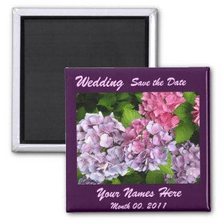 Hydrangeas que Wedding o ímã Ímã Quadrado