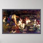 Hylas e as ninfas - pelo Waterhouse de John Impressão
