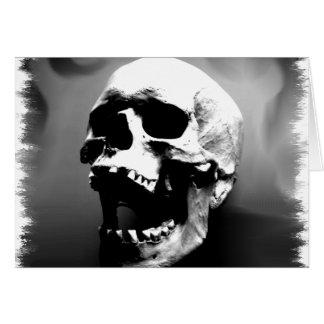 Hysteriskull que ri o crânio humano cartões