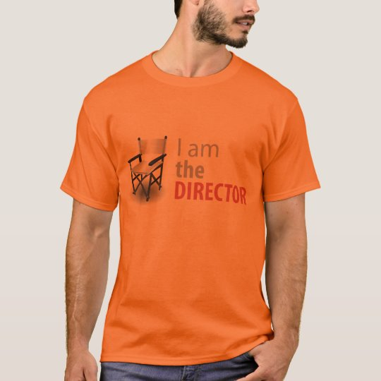 I am the Director Camiseta Clara de Cinema