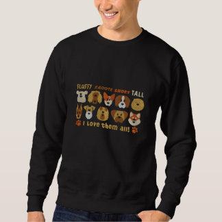 I bordado ama-os todos os cães suéter bordado