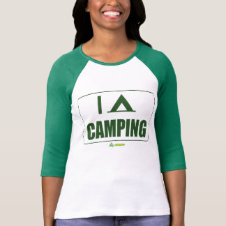 I love camping manga verde tshirt