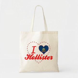 I Love Hollister, Idaho Canvas Bags