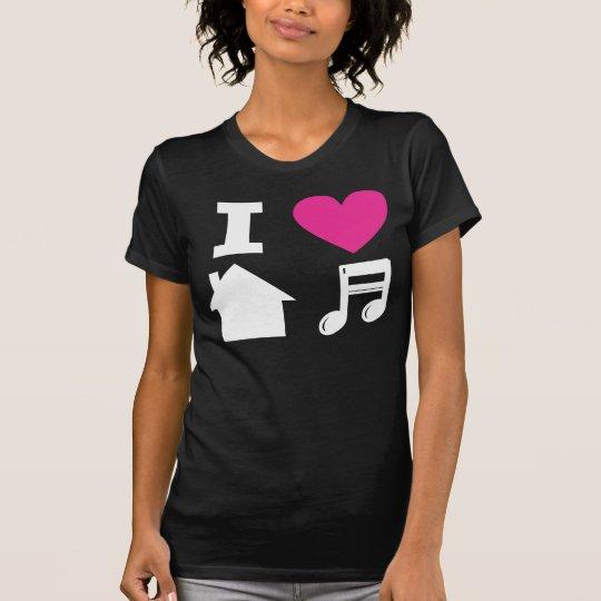 I love house music camiseta