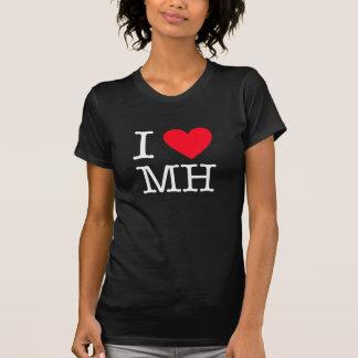 I Love MH - Women's American Fine Jersey - Black Camiseta