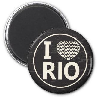 I love Rio Ímã Redondo 5.08cm