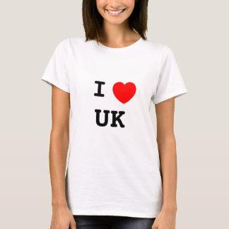 I LOVE UK CAMISETA