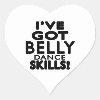 I ve obteve habilidades da dança do ventre adesivos em forma de corações