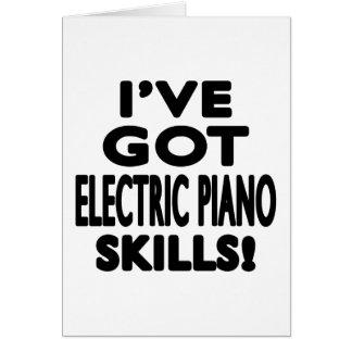 I ve obteve habilidades elétricas do piano cartao