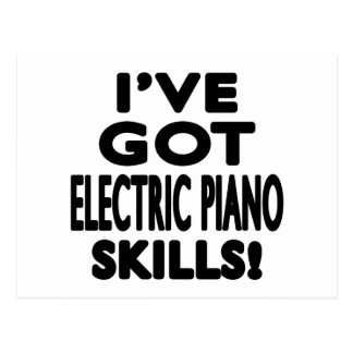 I ve obteve habilidades elétricas do piano cartao postal