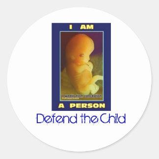 IamaPerson3, defendem a criança Adesivo