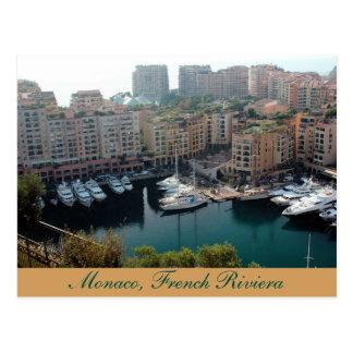 Iate de Monaco, cartão de Riviera francês Cartão Postal