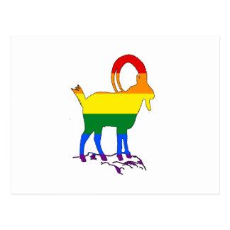 Íbex do arco-íris cartão postal