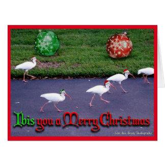 Íbis você Feliz Natal Cartão Comemorativo Grande