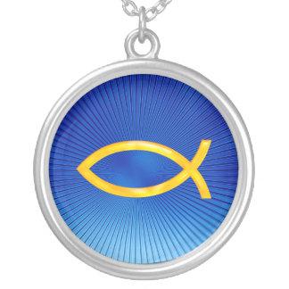 Ichthus - símbolo cristão dos peixes - colar