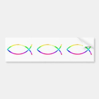 Ichthus - símbolos cristãos dos peixes adesivo para carro
