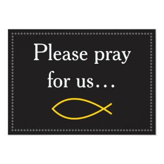 """Ichthys """"pray por favor para nós…"""" Cartão do"""