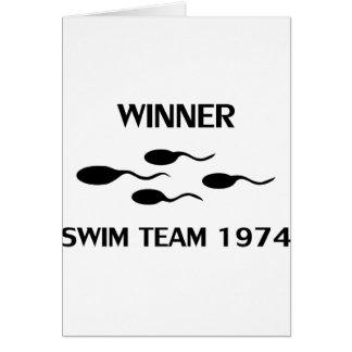 ícone 1974 da equipe de natação do vencedor cartões