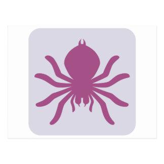 Ícone assustador do Tarantula Cartão Postal