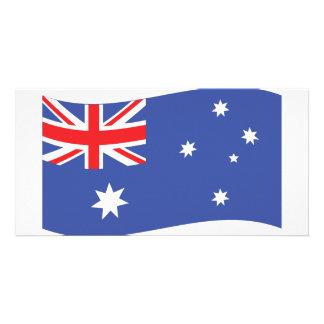 ícone australiano da bandeira cartão com foto