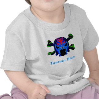 Ícone AZUL de TINMAN: Desenhos animados engraçados Tshirts