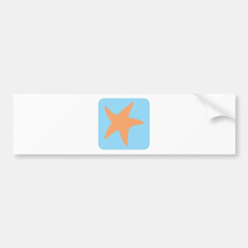 Ícone bonito da estrela do mar adesivo