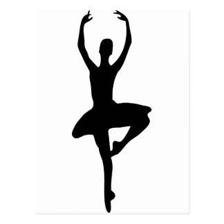 ícone da bailarina de prima cartoes postais