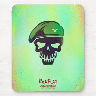 Ícone da cabeça da bandeira do rick do pelotão | mouse pad