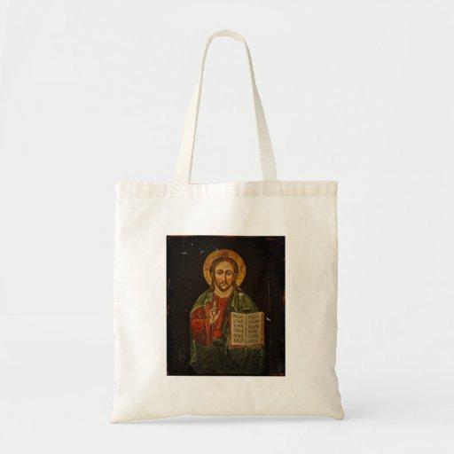 Ícone de Chrystus Pantokrator (Jesus) Bolsas De Lona