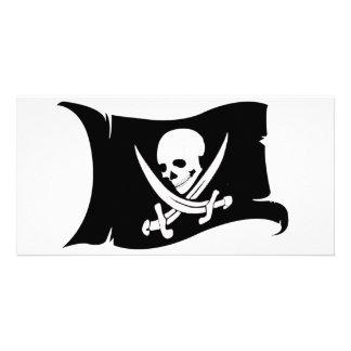Ícone de ondulação #7 do Bandeira-Pirata Cartão Com Foto