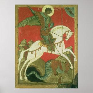 Ícone de St George e do dragão Pôster