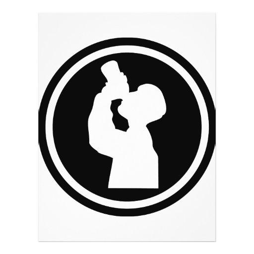 ícone do álcool do bebendo panfletos personalizado