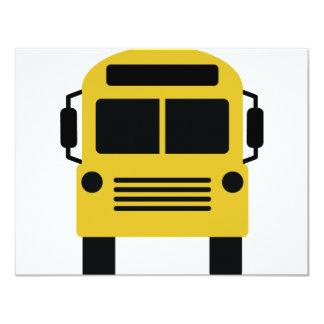 ícone do auto escolar convite 10.79 x 13.97cm