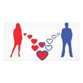 ícone do casal do amor cartão com foto
