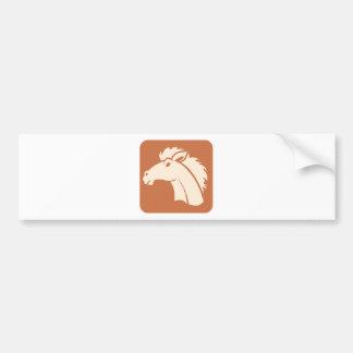 Ícone do cavalo de Brown Adesivo Para Carro