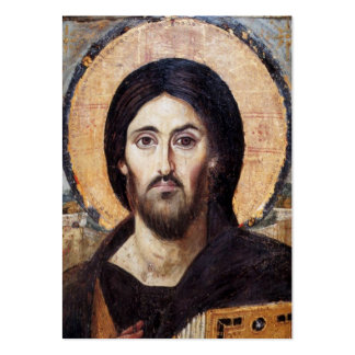 Ícone do cristo/igreja ortodoxa cartão de visita grande