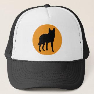 ícone do lobo do cão do sol boné