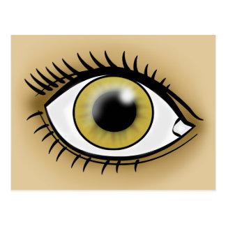 Ícone do olho côr de avelã cartao postal