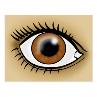 Ícone do olho de Brown Cartão Postal