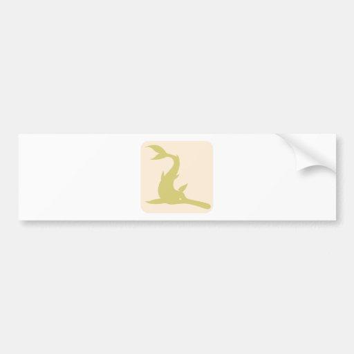 Ícone do Paddlefish chinês Adesivo
