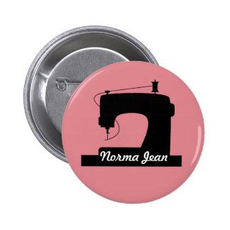 Ícone dos artesanatos da máquina de costura/seu bóton redondo 5.08cm