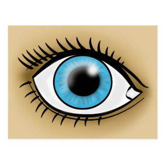 Ícone dos olhos azuis cartao postal