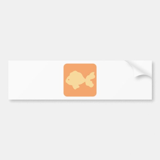 Ícone extravagante do peixe dourado adesivos